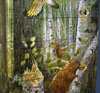 Kate Wright, painting, wildlife painting, oil painting, watercolor, furniture, furniture painting, Smithsonian